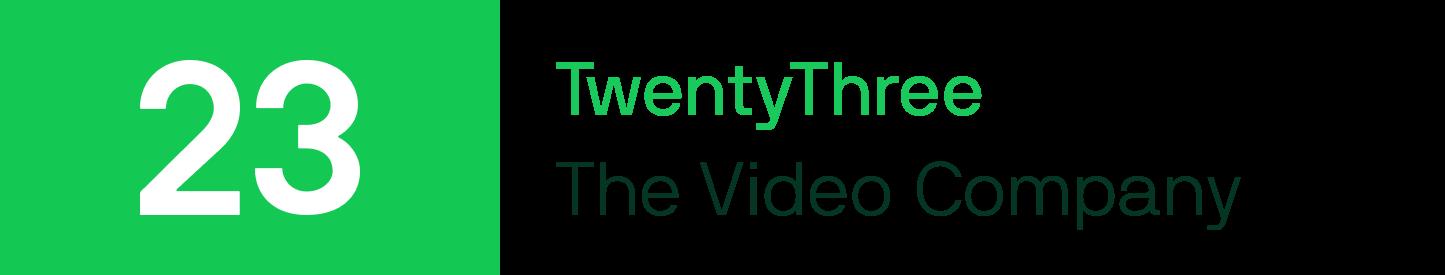 TwentyThree logo with text